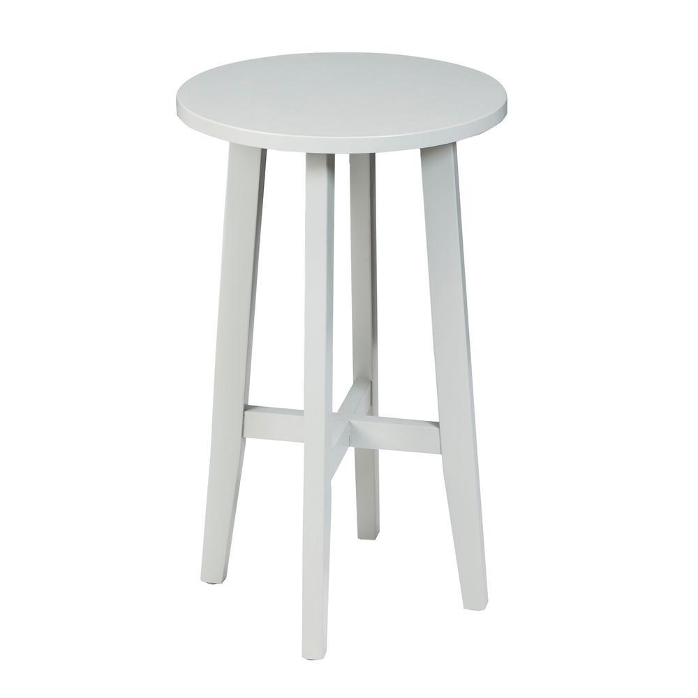 Bella Gray Round Accent Table