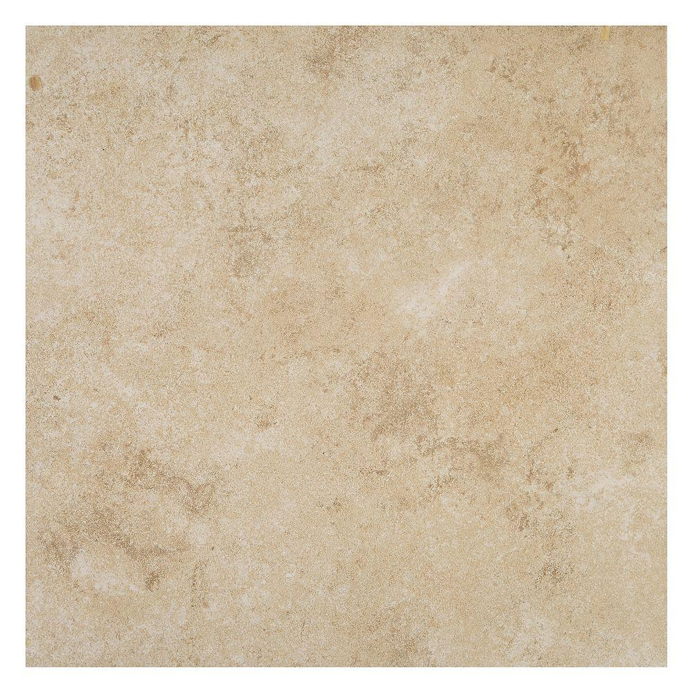 Forest Hills Crema 12 in. x 12 in. Porcelain Floor and