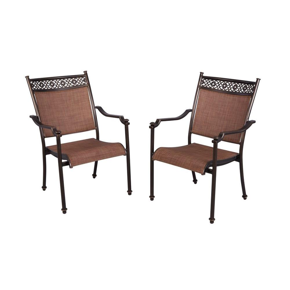 Home Depot Chairs: Hampton Bay Niles Park Sling Patio Dining Chairs (2-Pack