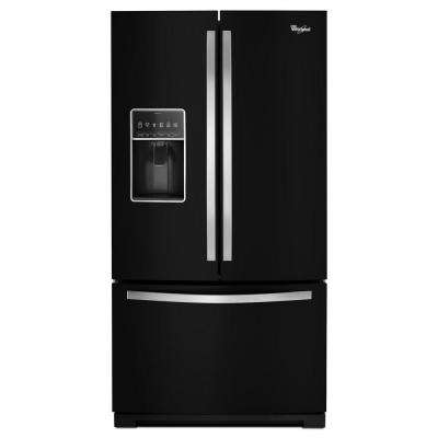 36 in. W 27 cu. ft. French Door Refrigerator in Black Ice