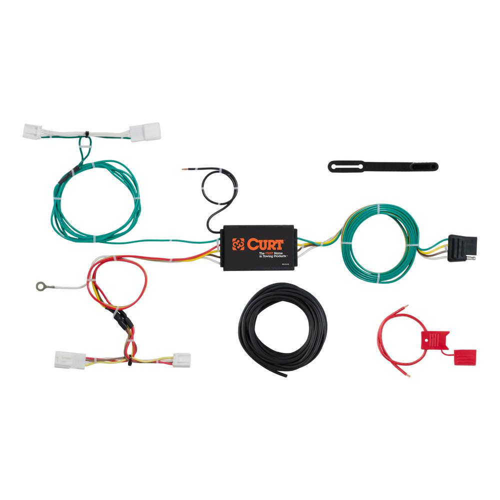 Stupendous Curt Custom Wiring Harness 4 Way Flat Output 56309 The Home Depot Wiring 101 Taclepimsautoservicenl