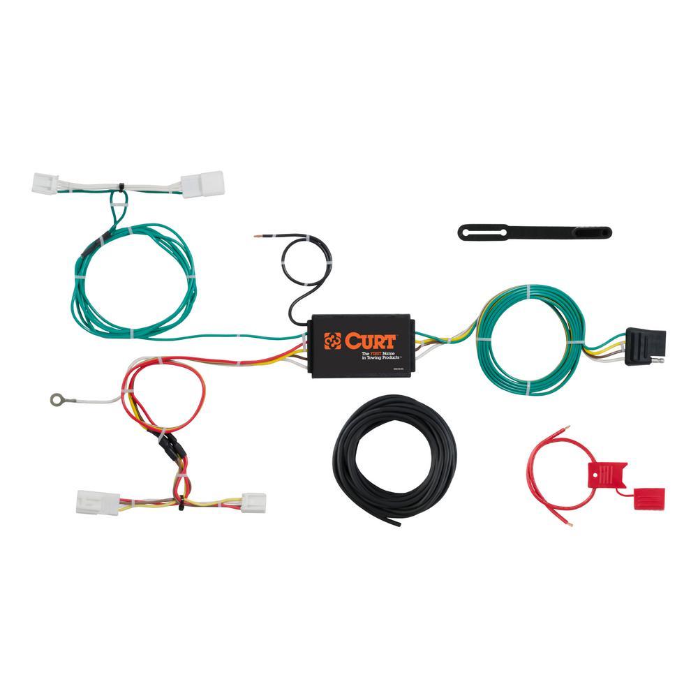 Terrific Curt Custom Wiring Harness 4 Way Flat Output 56309 The Home Depot Wiring Digital Resources Funapmognl