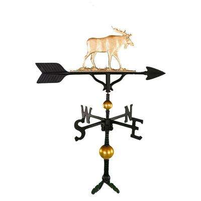 32 in. Deluxe Gold Moose Weathervane
