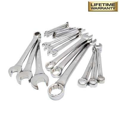 SAE/Metric Combination Wrench Set (18-Piece)