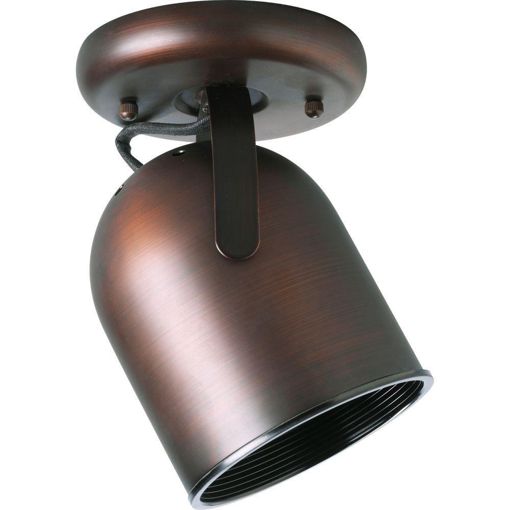 1-Light Urban Bronze Track Lighting Fixture