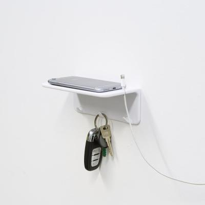 Removable, 6.6 in. L, White Utility Shelf, Holds 2.2 lbs.