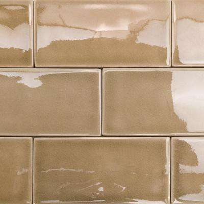 Oracle Sea Wind 3 in. x 6 in. Polished Ceramic Subway Tile (1 sq. ft.)