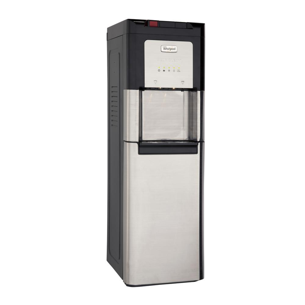Whirlpool Bottom Loading Water Cooler, Ice Cold and Steaming Hot Water in Stainless Steel with LED Indicators
