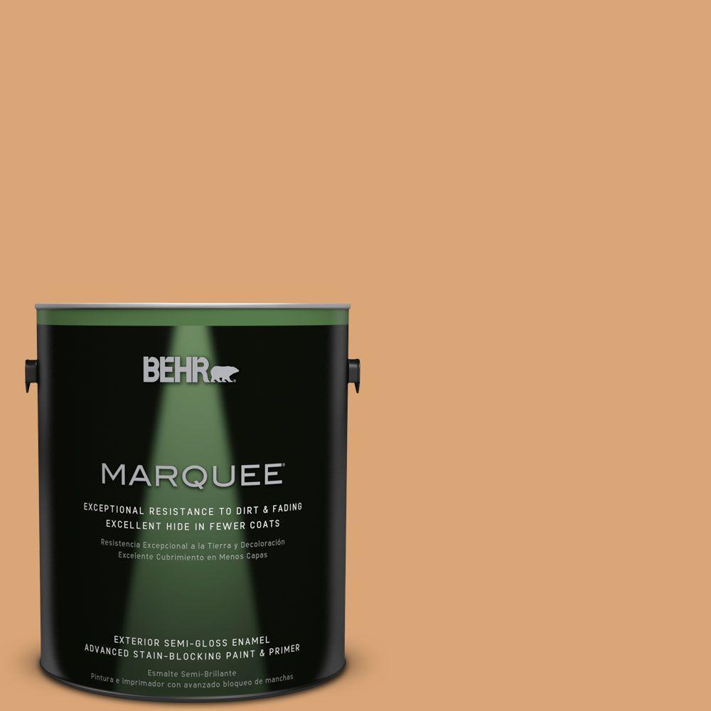 BEHR MARQUEE 1-gal. #BIC-14 Fresh Nectar Semi-Gloss Enamel Exterior Paint