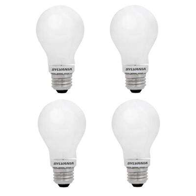 60-Watt Equivalent A19 Dimmable Double Life Household LED Light Bulb Daylight (4-Pack)