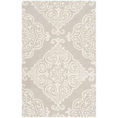 Glamour Silver/Ivory 2 ft. x 3 ft. Area Rug