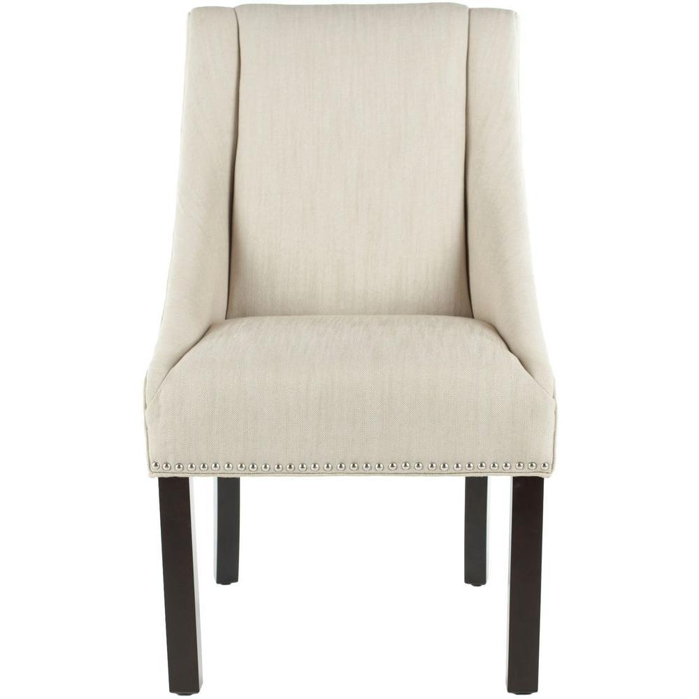 Morris Beige Linen Dining Chair (Set of 2)