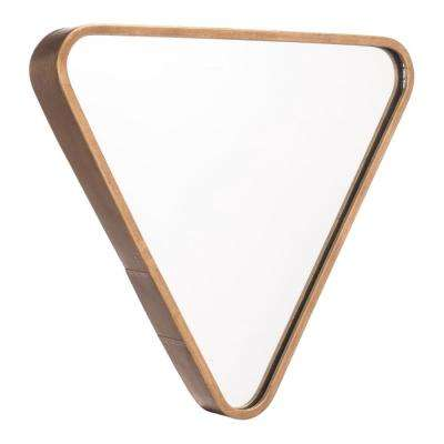 Triangle Gold Wall Mirror