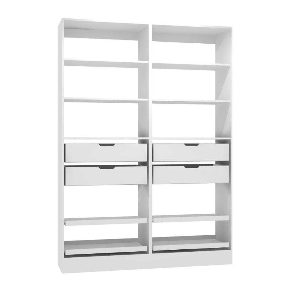 60 in. W x 15 in. D x 84 in. H Melamine Pantry Organizer Kit in White