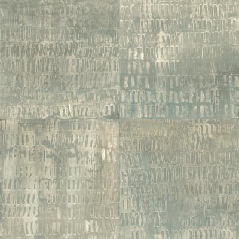 56.4  sq. ft. Conundrum Sage Faux Metal Wallpaper