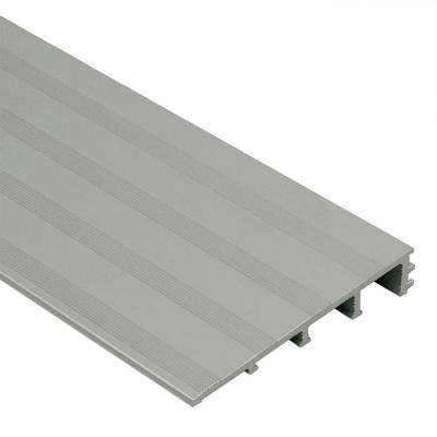Reno-Ramp-K Satin Anodized Aluminum 1/2 in. x 8 ft. 2-1/2 in. Metal Reducer Tile Edging Trim