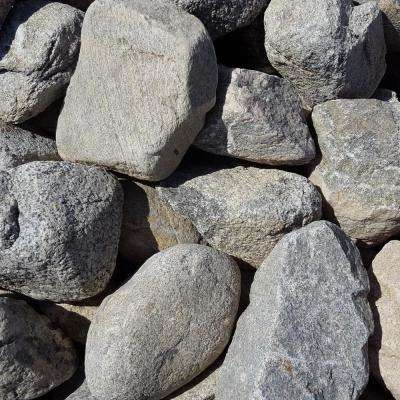4 in. to 8 in. Gray Granite Landscaping Cobble (2500 lb. Contractor Pallet)