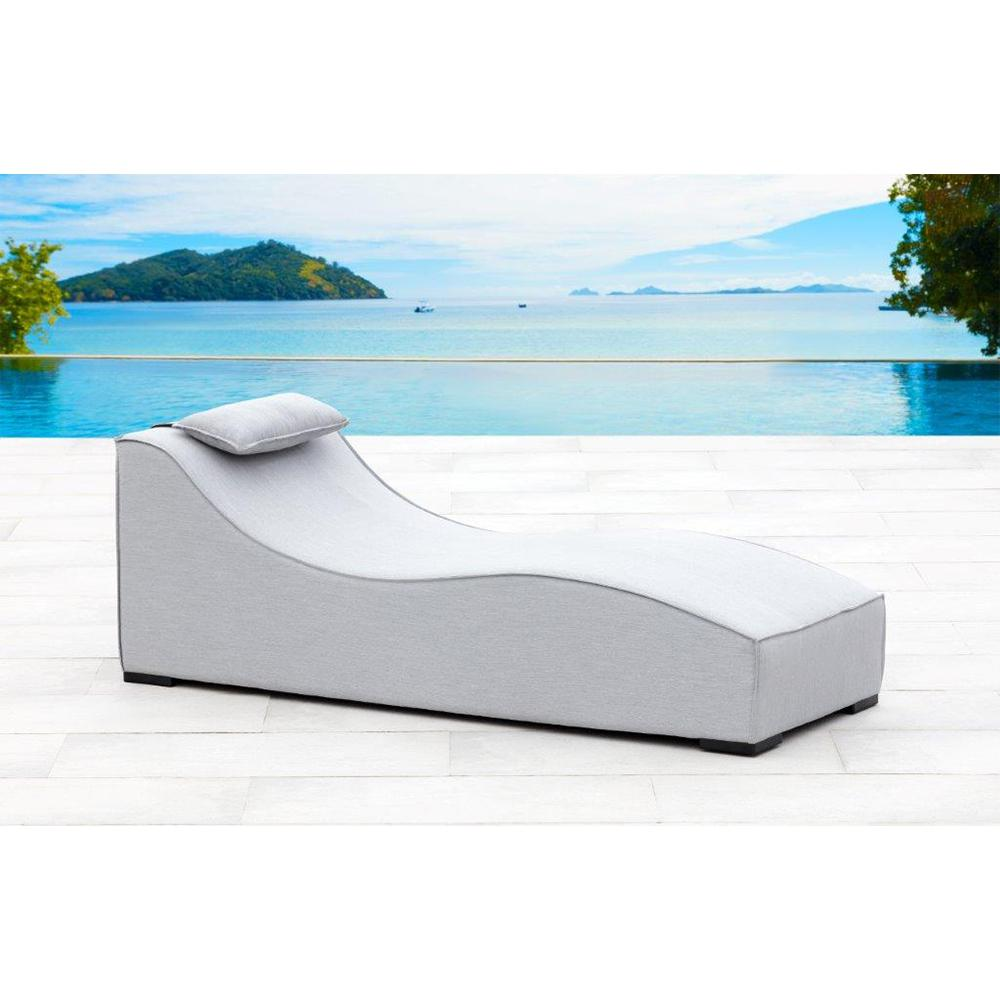 Breeze UV Protected Aluminum Outdoor Lounge Chair with Sunbrella Lead Cushion