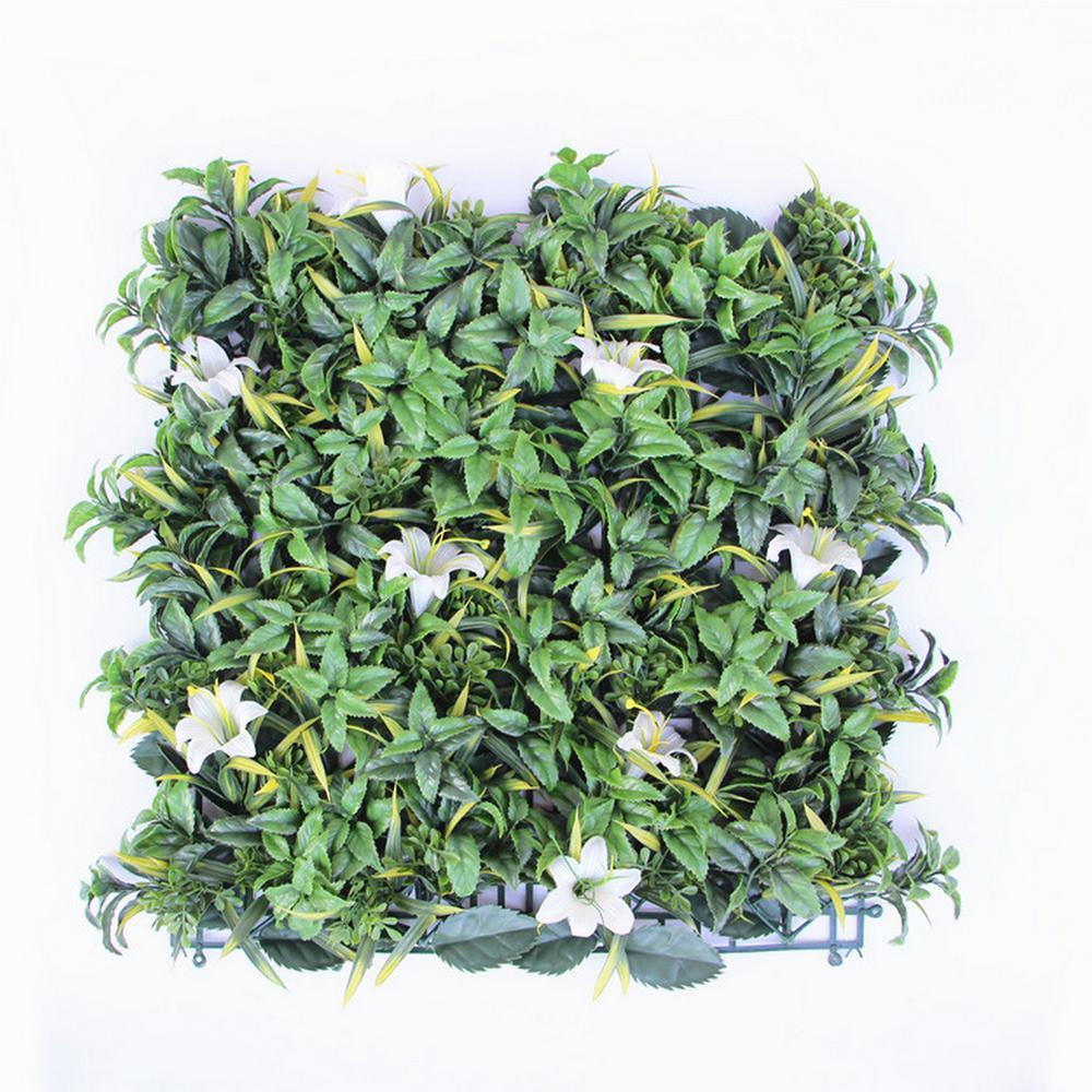 "GorgeousHome Artificial Boxwood Hedge Greenery Panels, 20""x20""/pc (LilyFlower_12pc)"