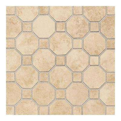 Salerno Nubi Bianche 12 in. x 12 in. x 6 mm Ceramic Octagon Mosaic Floor and Wall Tile (10 sq. ft. / case)