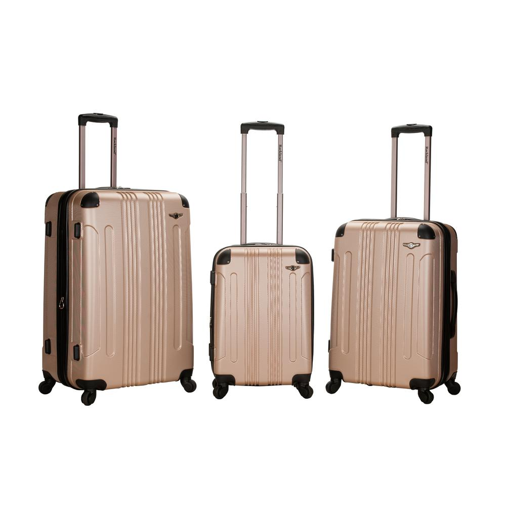 5c6a919f3 Rockland Rockland Sonic 3-Piece Hardside Spinner Luggage Set, Pink  F190-PINK - The Home Depot