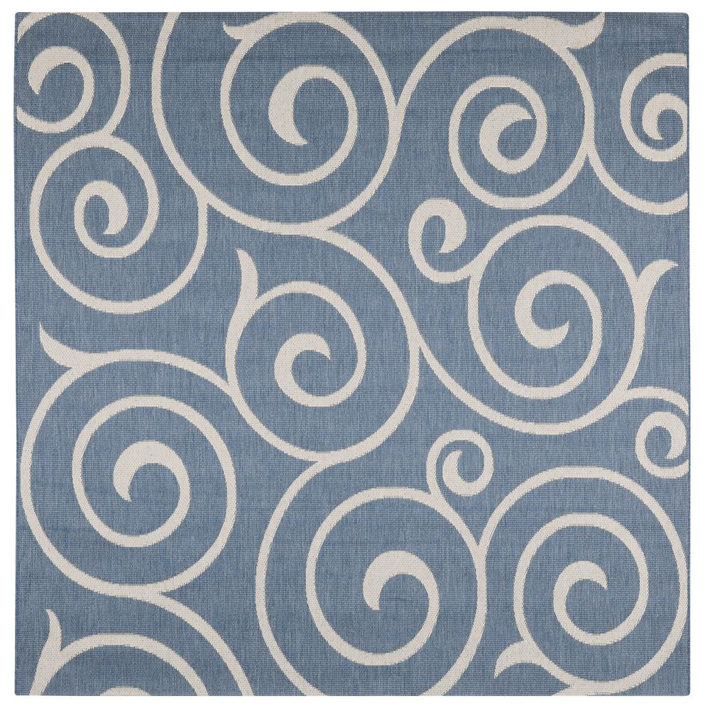 home decorators collection whirl blue chagne 8 ft 6 in x 8 ft 6 in square indoor outdoor