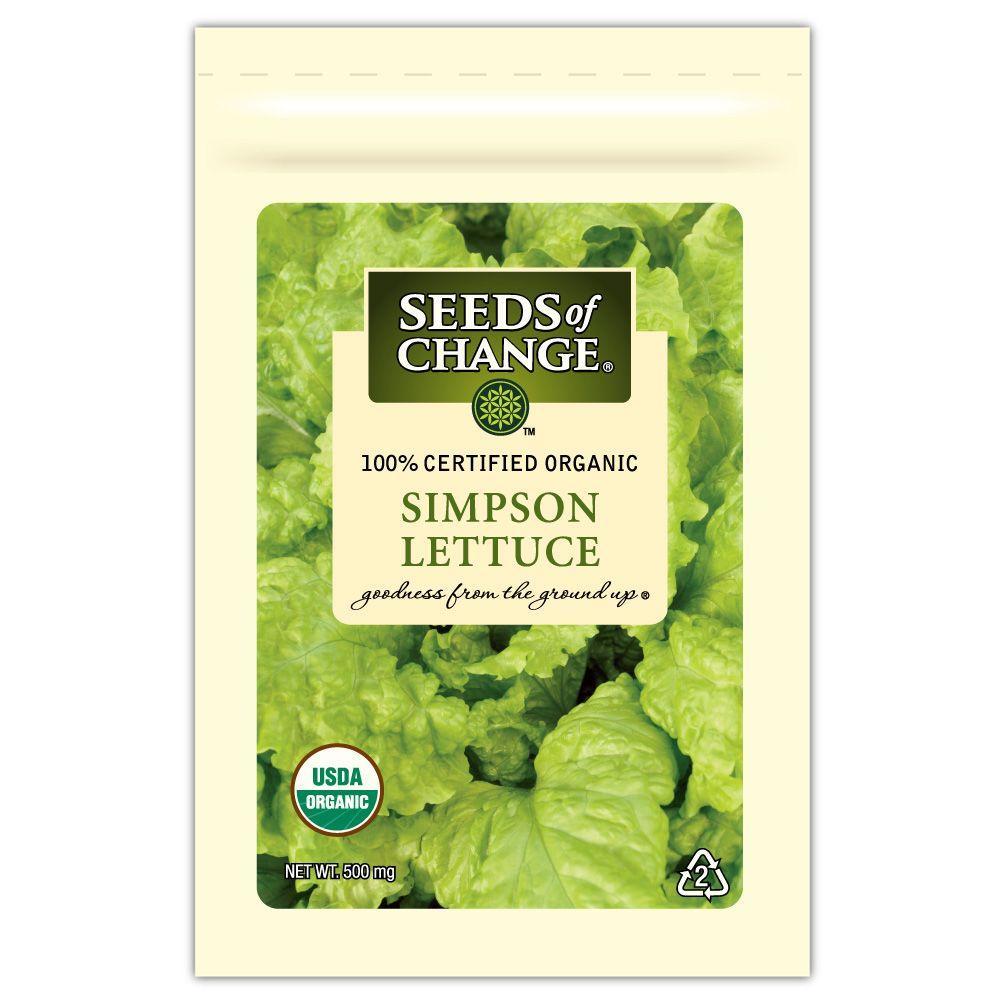 Seeds of Change Lettuce Simpson Seed