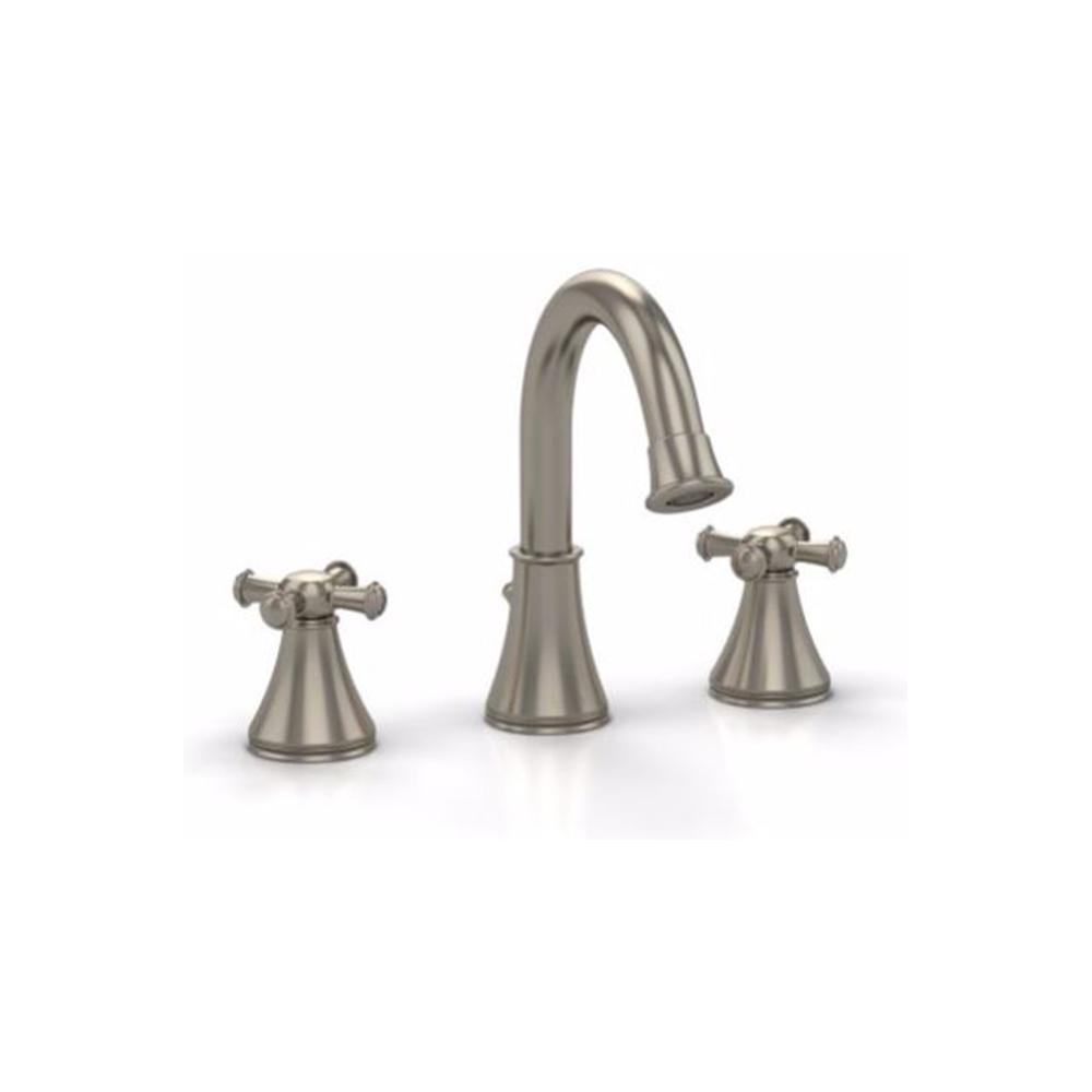 Vivian Alta 8 in. Widespread 2-Handle Bathroom Faucet with Cross Handles in Brushed Nickel