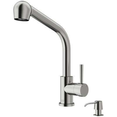 Avondale Single-Handle Pull-Out Sprayer Kitchen Faucet with Soap Dispenser in Stainless Steel