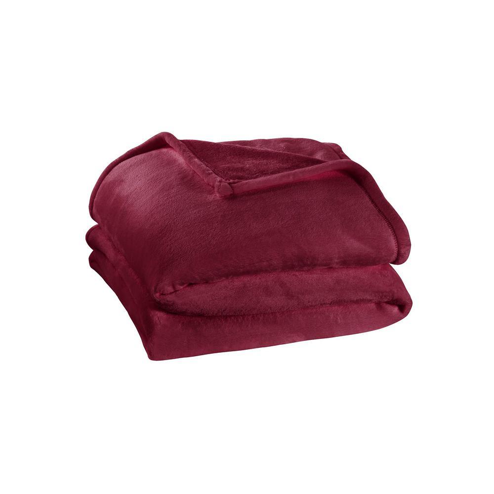 HomeDecoratorsCollection Home Decorators Collection Plush Aubergine King Fleece Blanket