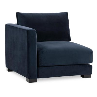 Shelby Oxford Blue Left Arm Chair