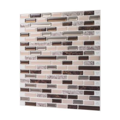 Como Crema 12 in. W x 12 in. H Peel and Stick Decorative Mosaic Wall Tile Backsplash (5 Tiles)