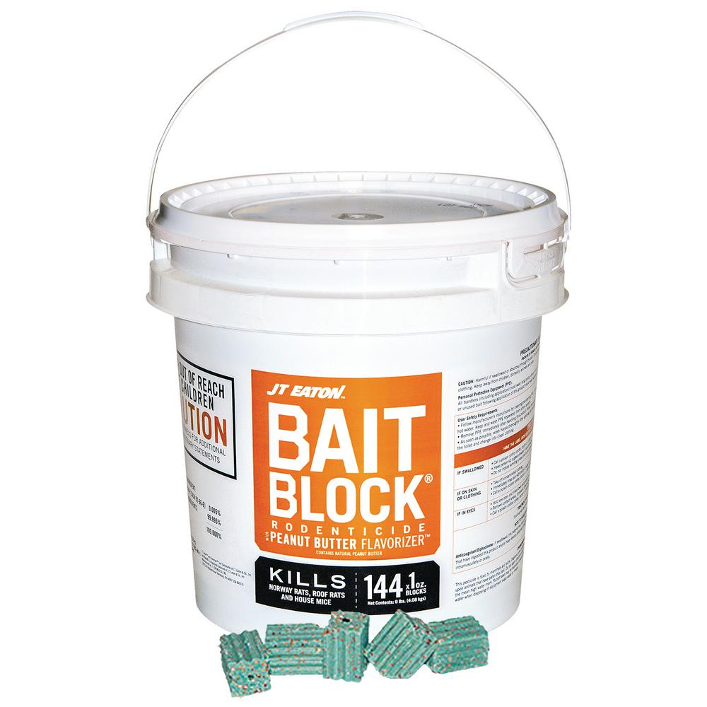 JT Eaton Bait Block Peanut Butter Flavor Anticoagulant Rodenticide for Mice  and Rats (144-Pack)