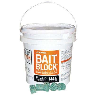 Bait Block Peanut Butter Flavor Anticoagulant Rodenticide for Mice and Rats (144-Pack)
