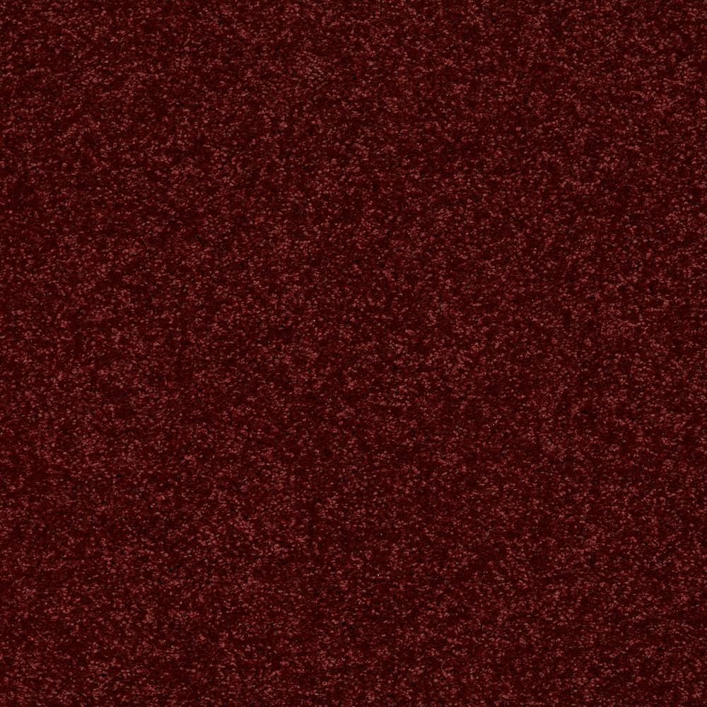 Slingshot I - Color Rich Burgundy Texture 12 ft. Carpet