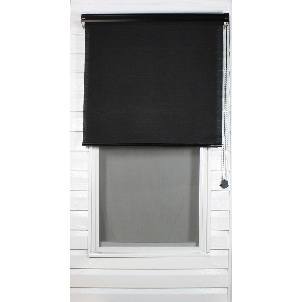 Coolaroo Black Exterior Roller Shade, 92% UV Block (Price Varies by Size)-DISCONTINUED