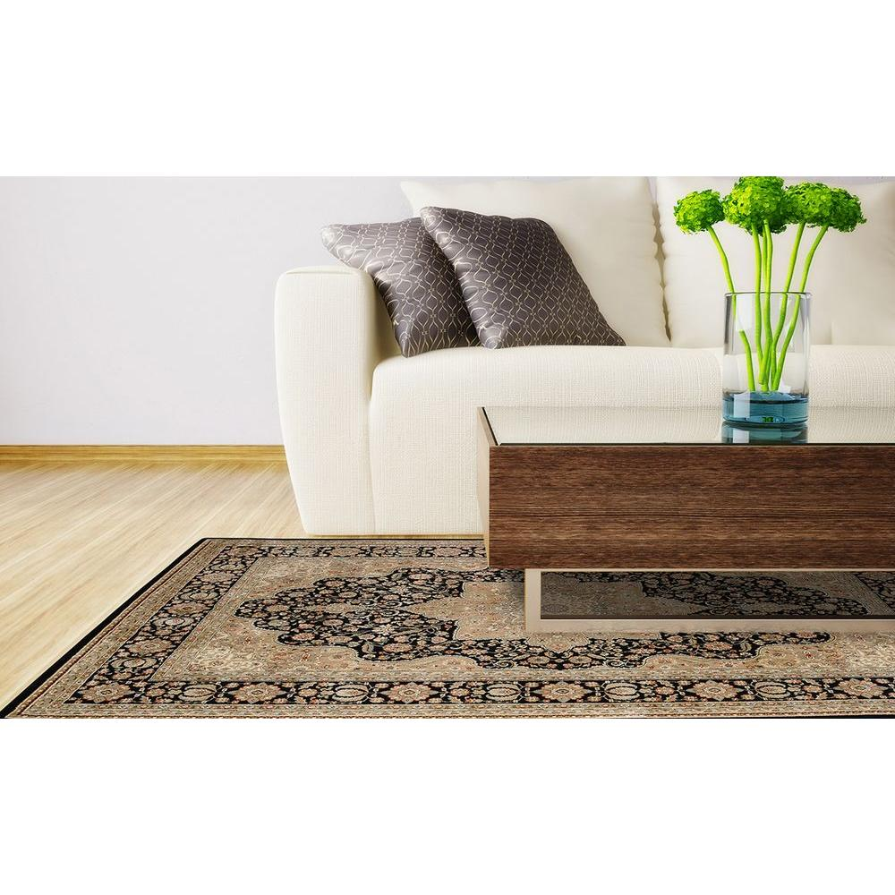 Home Dynamix Majestic Black 7 ft. 9 in. x 10 ft. 2 in. Indoor Area Rug
