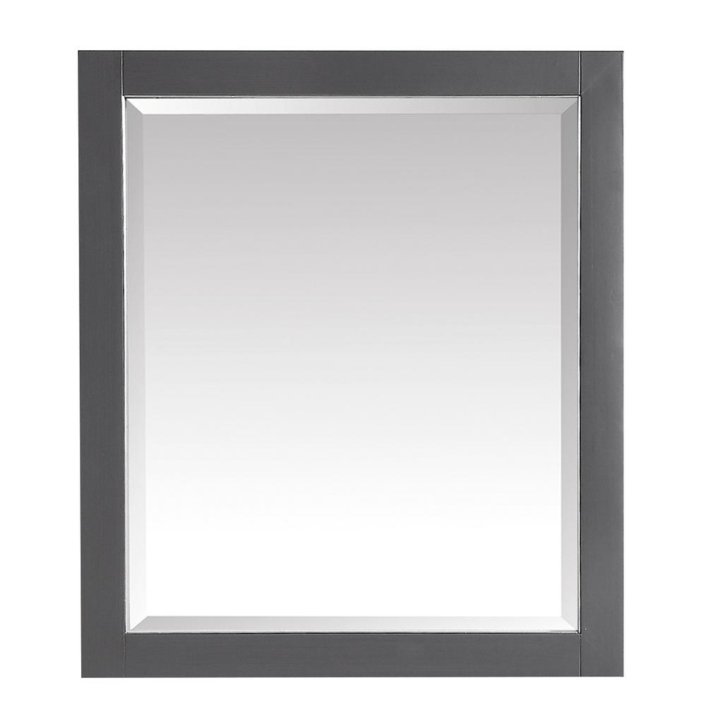 Allie 28 in. x 32 in. Framed Wall Mirror in Twilight