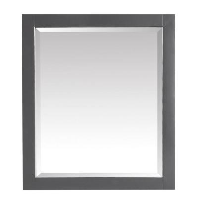 Allie 28 in. W x 32 in. H Framed Rectangular Bathroom Vanity Mirror in Twilight Gray finish