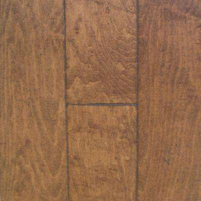 Take Home Sample - Antiqued Maple Bronze Engineered Click Hardwood Flooring - 5 in. x 7 in.