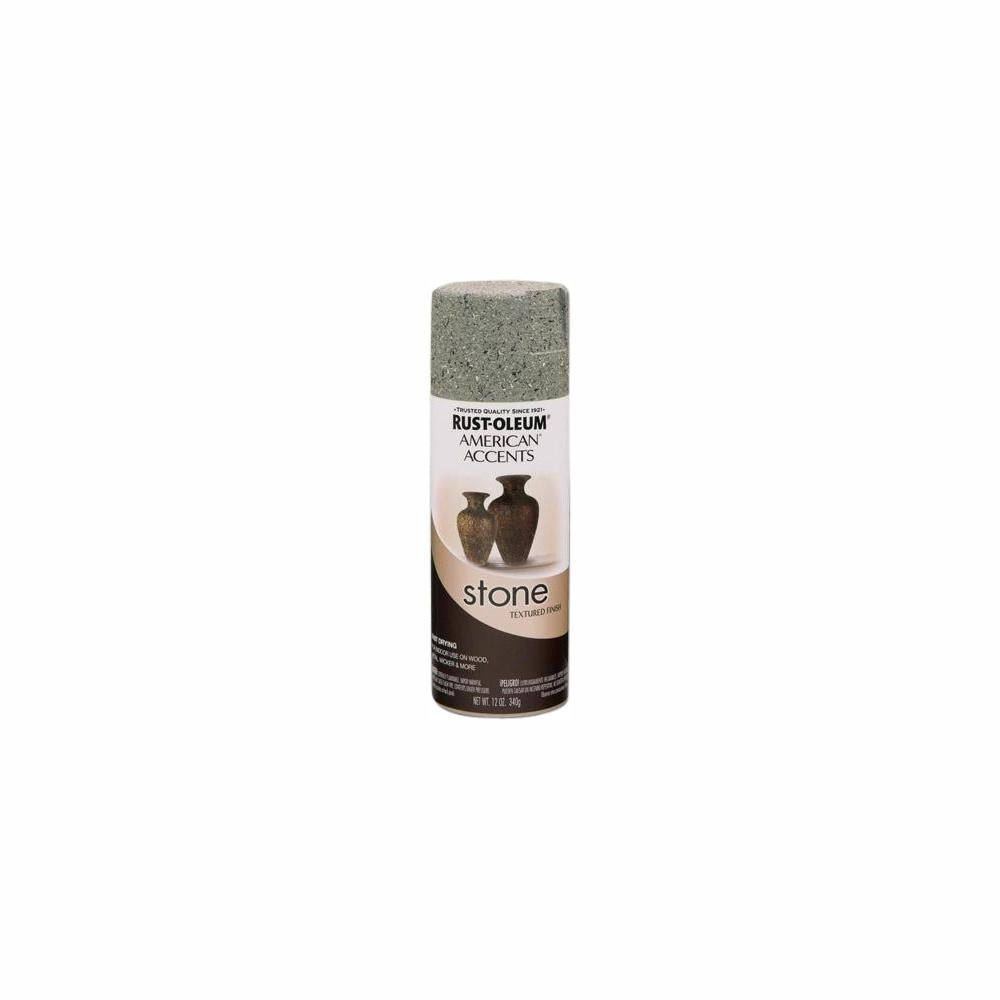 Rust-Oleum American Accents 12 oz. Stone Creations Gray Stone Textured Finish Spray Paint (6-Pack)