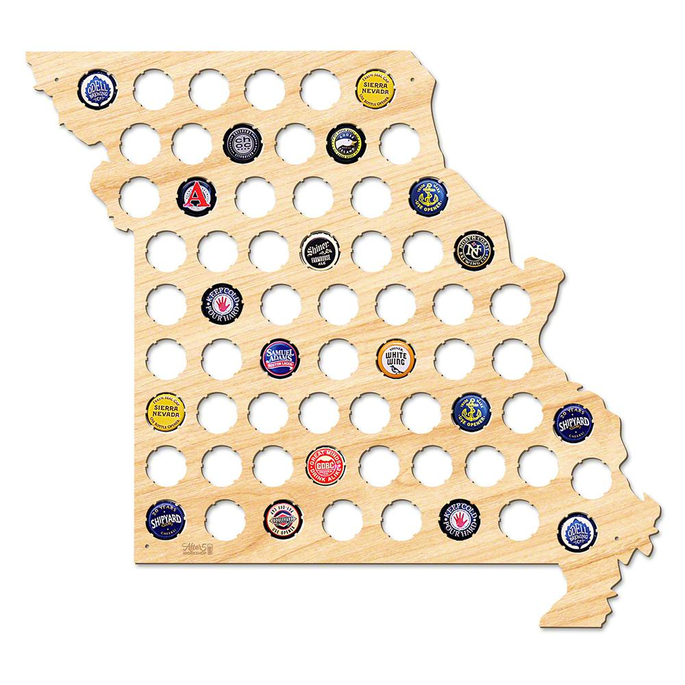 After 5 Workshop 18 in. x 16 in. Large Missouri Beer Cap Map-4760 ...