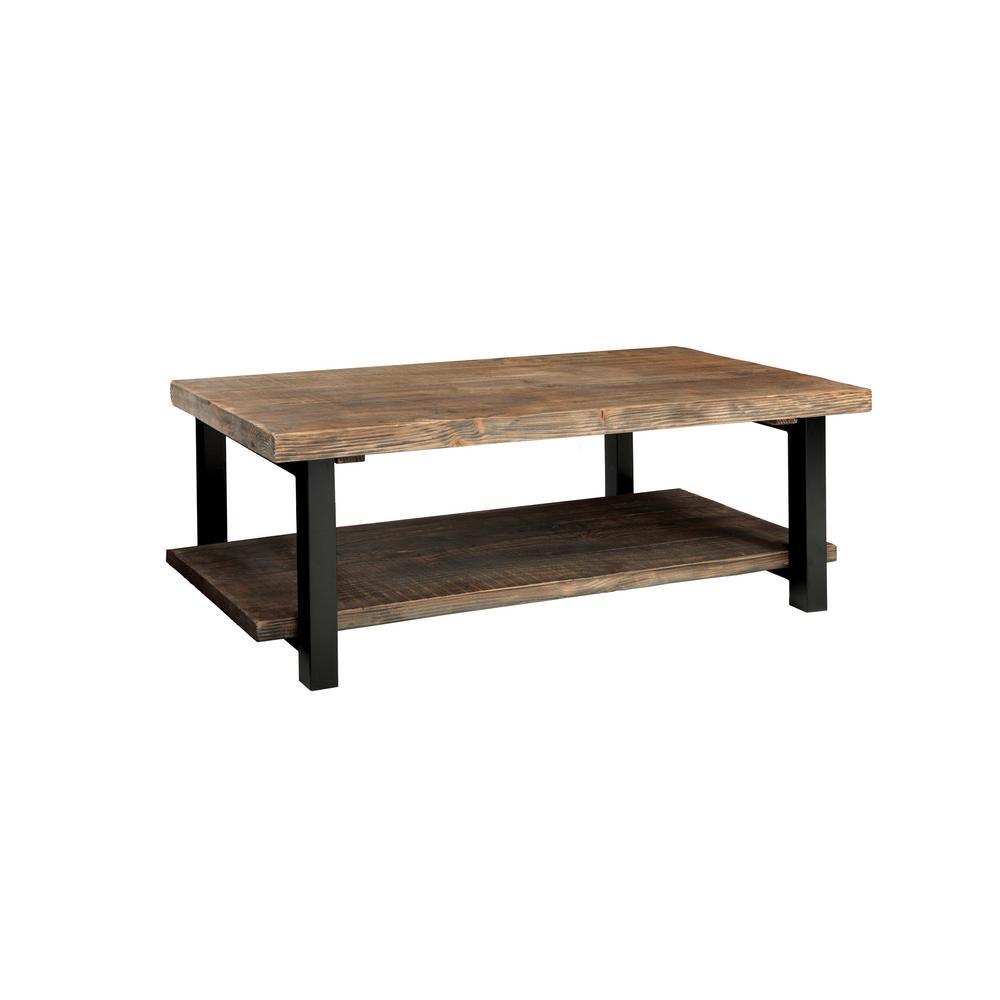 Alaterre Furniture Pomona Rustic Natural Coffee Table AMBA1120