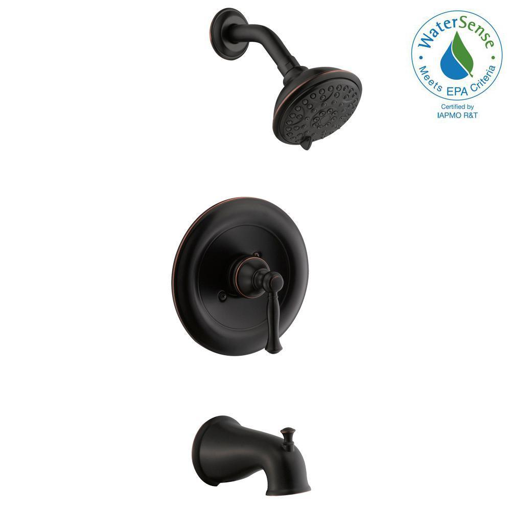 Glacier Bay Fairway Single-Handle 3-Spray Tub and Shower Faucet in Bronze (Valve Included) by Glacier Bay