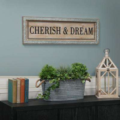 "10.00 in. x 33.00 in. ""Cherish & Dream"" Printed Wall Art"