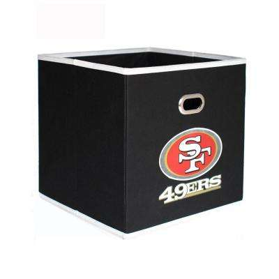 San Francisco 49ers NFL Store-Its 10-1/2 in. x 10-1/2 in. Black Fabric Drawer