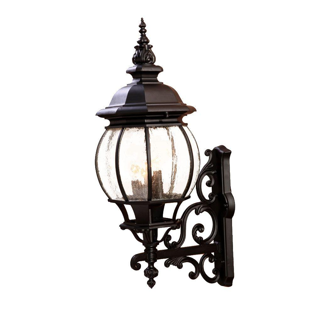Acclaim Lighting Outdoor Wall Lights Chateau Collection 4-Light Matte Black Outdoor Wall-Mount Light Fixture