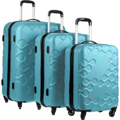 Harrana 3-Piece Turquoise Spinner Luggage Set