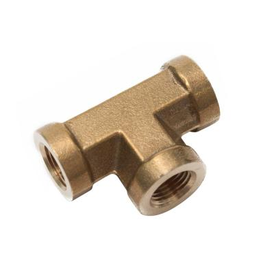 1/8 in. FIP Brass Pipe Tee Fitting (20-Pack)