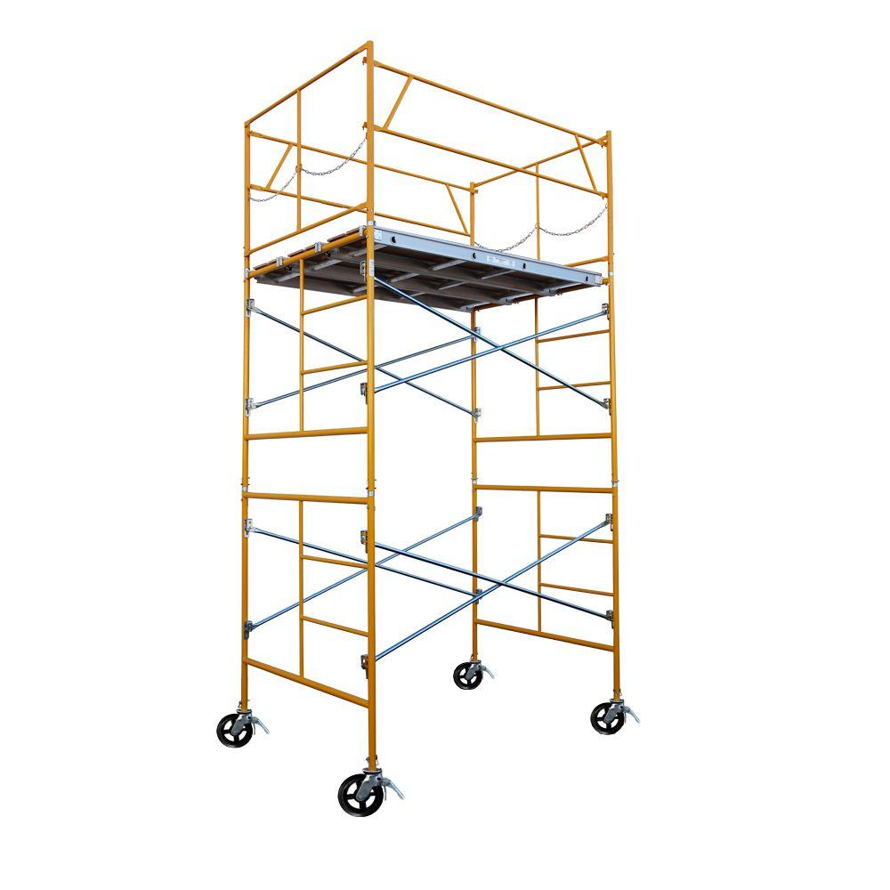 Rolling Scaffolding Home Depot : Fortress ft rolling scaffold tower